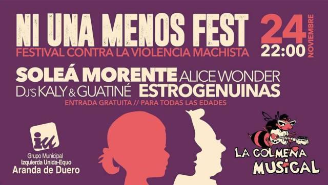 Ni Una Menos Fest se celebra en Aranda de Duero