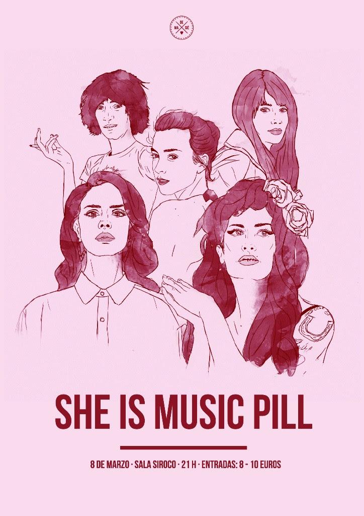 Cartel del She Is Music Pill.
