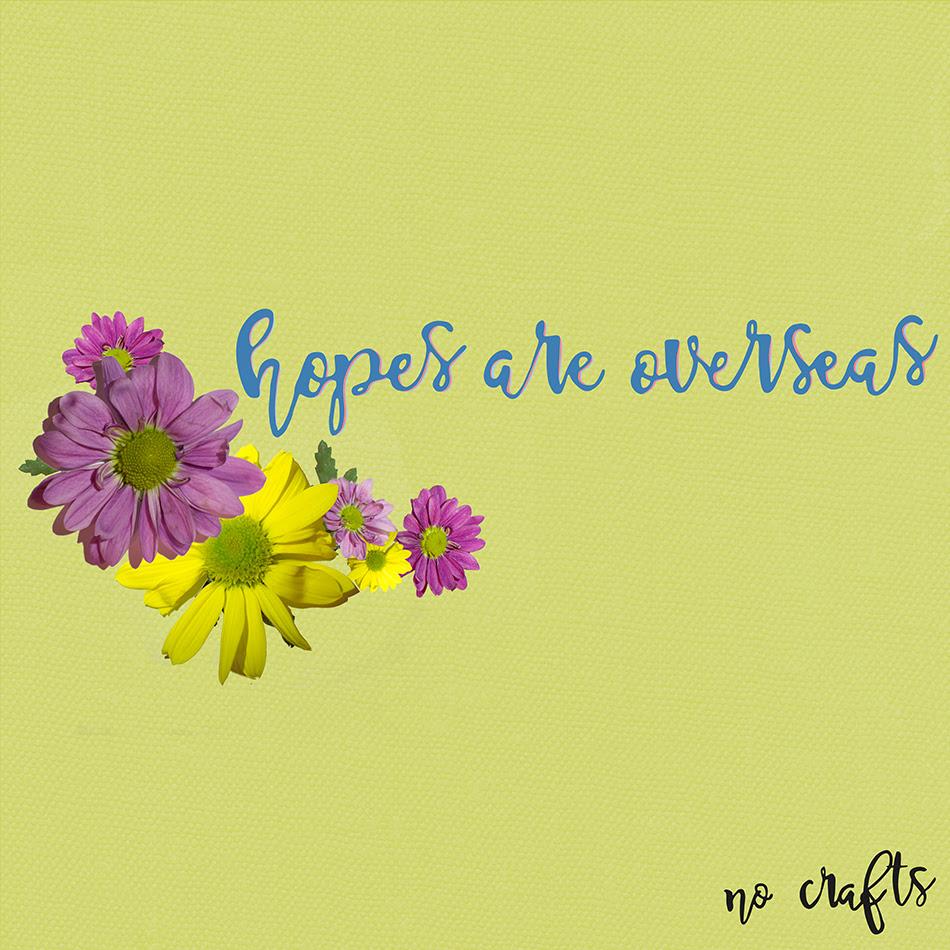 Hopes are Overseas es lo nuevo de No Crafts