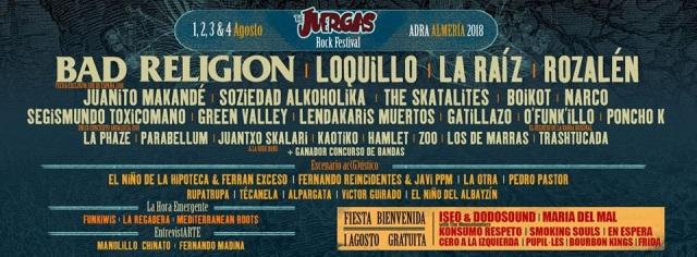 The Juergas Rock Festival presenta su cartel por días