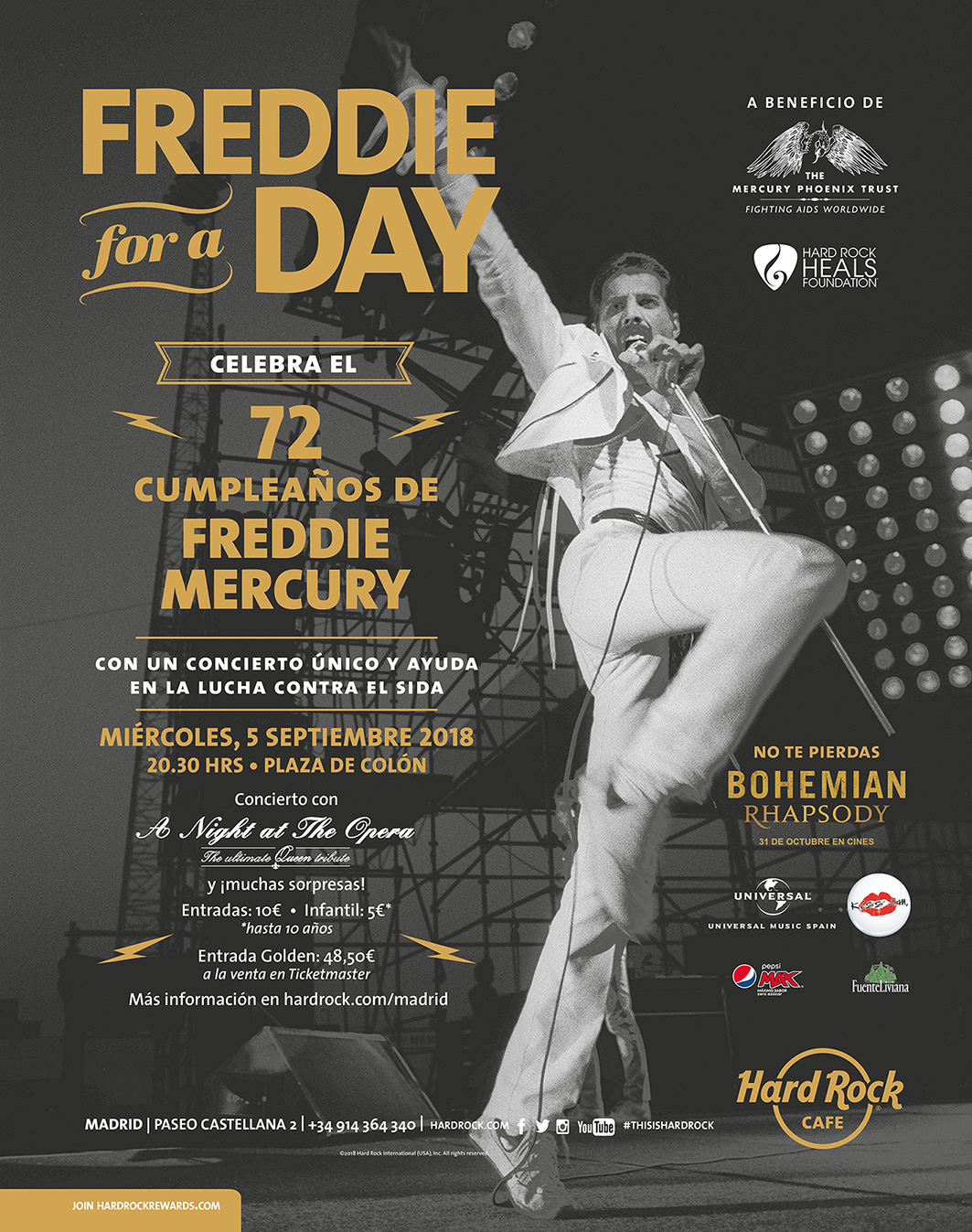 Freddie for a day llega a Madrid