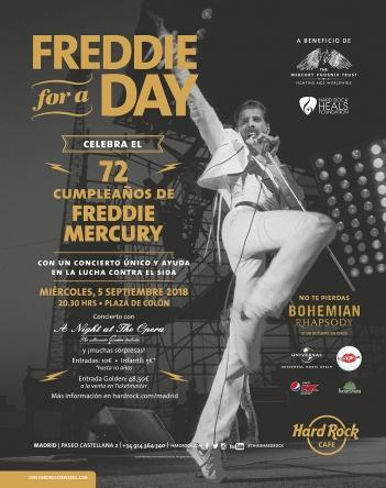 Freddie for a day llega a Madrid