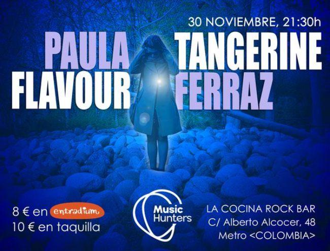 Paula Ferraz y Tangerine Flavour juntos en Madrid