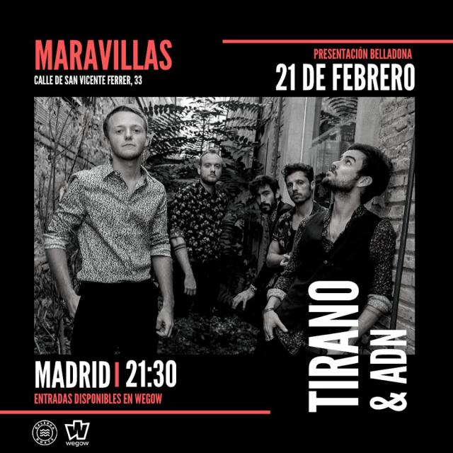 CARTEL CONCIERTO TIRANO EN MADRID_21 DE FEBRERO 2020